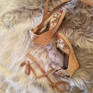 Ankle strap sandals with beautiful embellishments